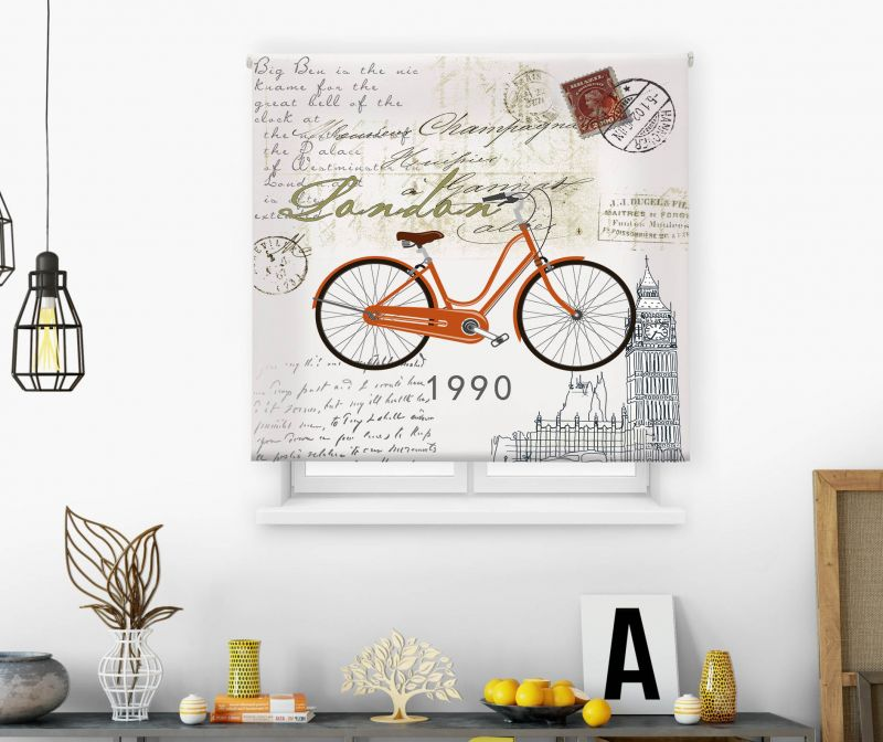 Estor impresión digital  juvenil Cool Fiction Bicicleta 1