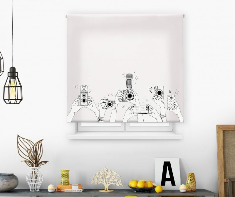 Estor impresión digital  juvenil Cool Fiction Cámaras
