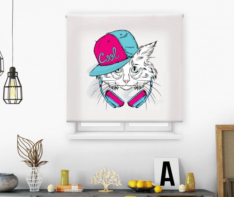 Estor impresión digital  juvenil Cool Fiction Gato 2