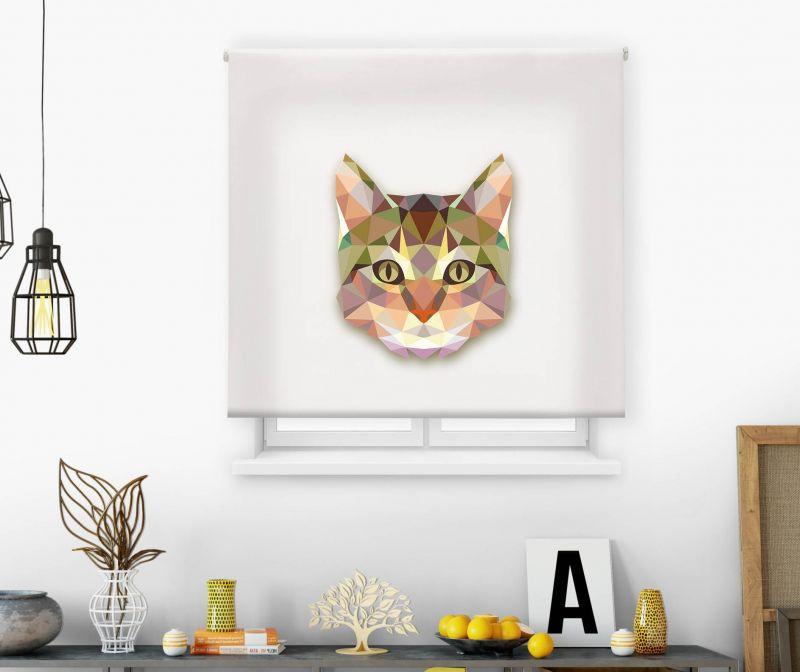 Estor impresión digital  juvenil Cool Fiction Cubismo Gato