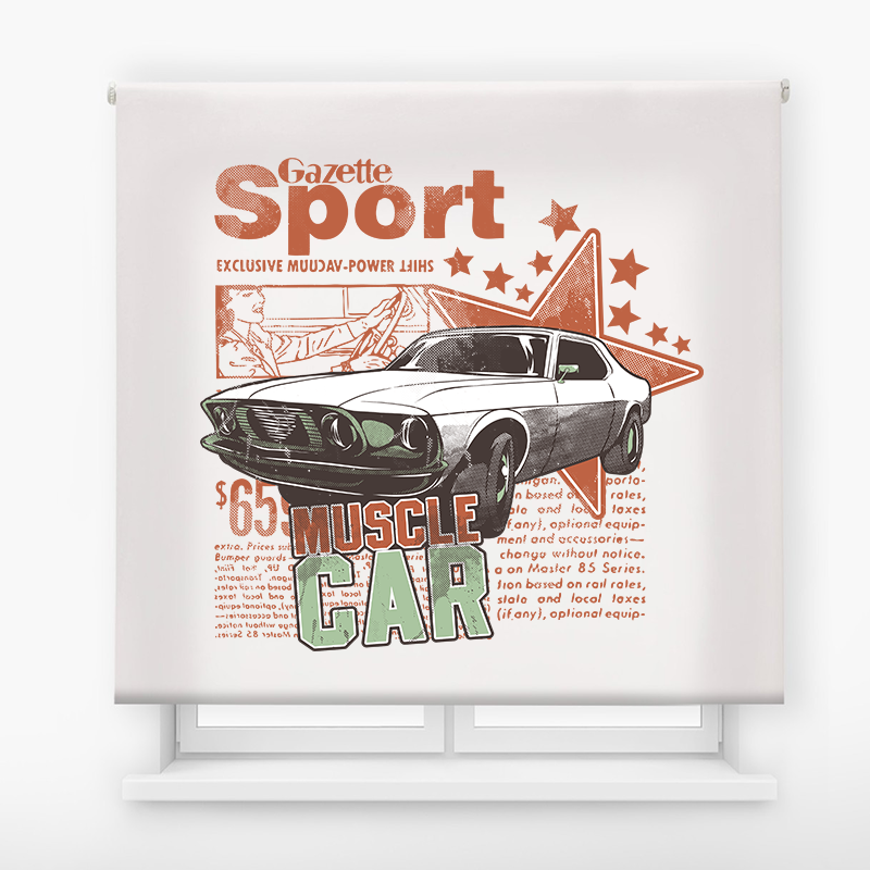 Estor enrollable impresión digital Cool fiction Coche Sport