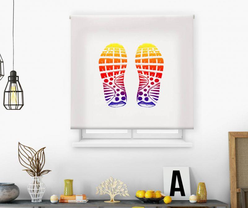 Estor impresión digital  juvenil Cool Fiction Zapatos huellas