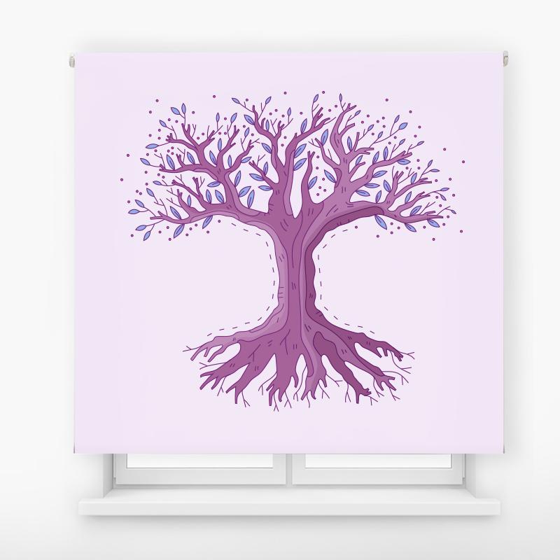 Estor de impresión digital Pink tree