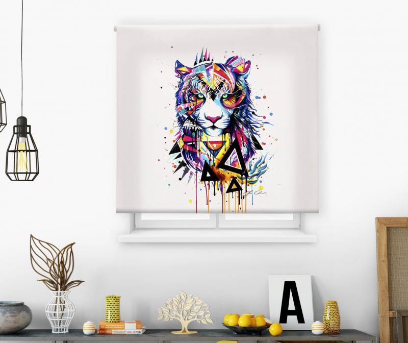 Estor impresión digital  juvenil Cool Fiction Tigre acuarela
