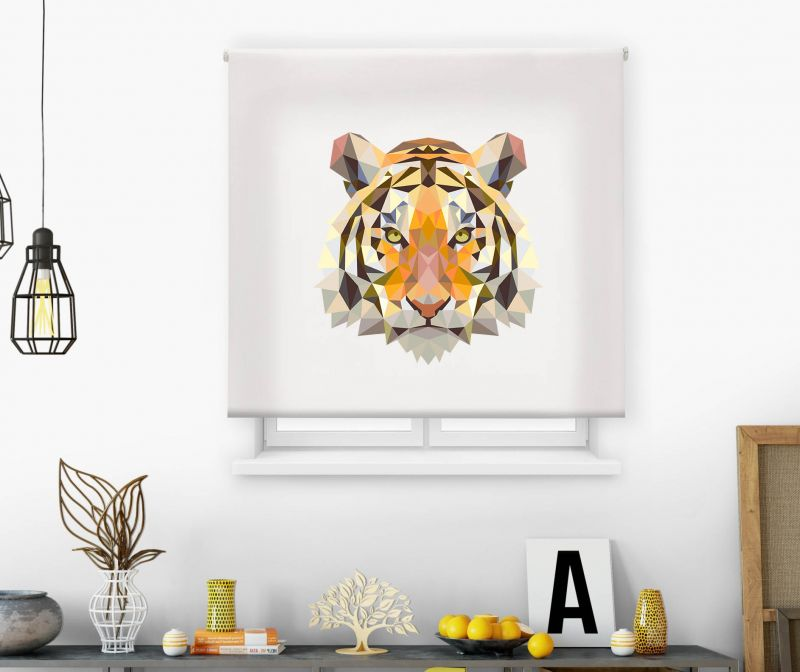 Estor impresión digital  juvenil Cool Fiction Cubismo Tigre
