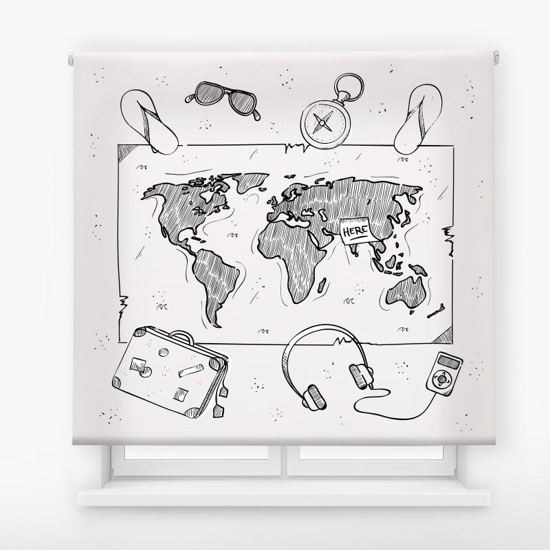 Estor de impresión digital travel map