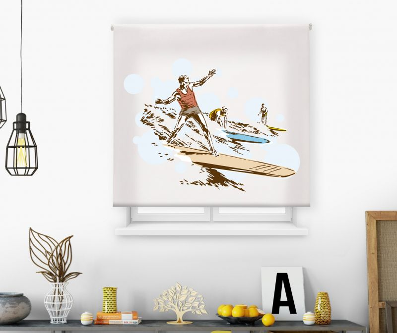 Estor impresión digital  juvenil Cool Fiction Surf vintage