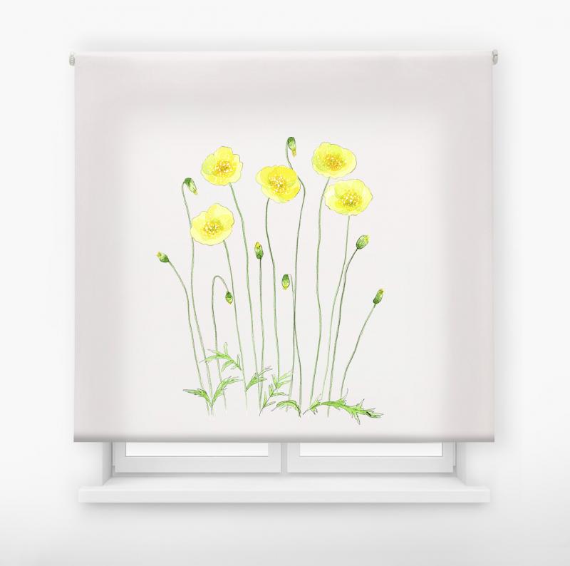 estor enrolalble digital cualquier ambiente /floral 4