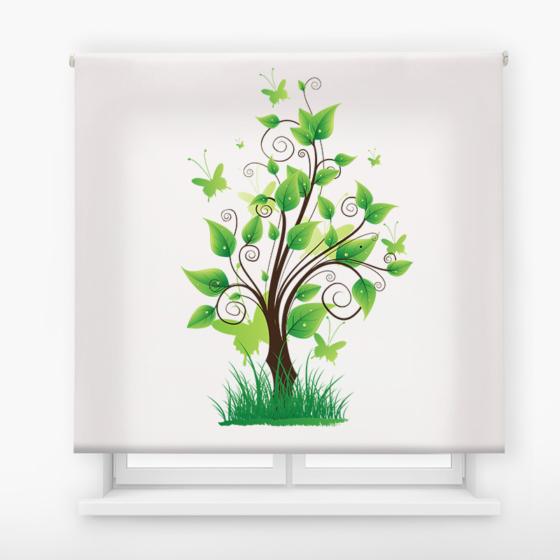 estor enrolalble digital cualquier ambiente /floral 49