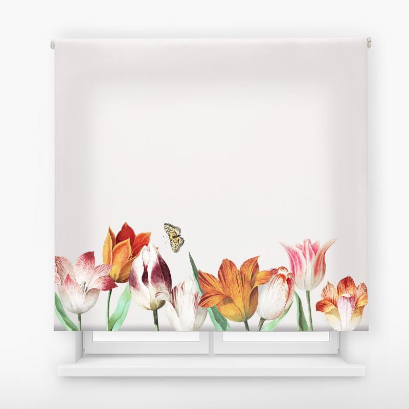 estor enrollable digital cualquier ambiente /floral 53