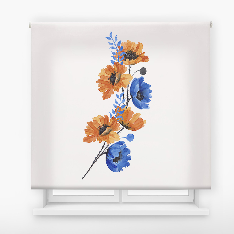 estor enrollable digital cualquier ambiente /floral 78