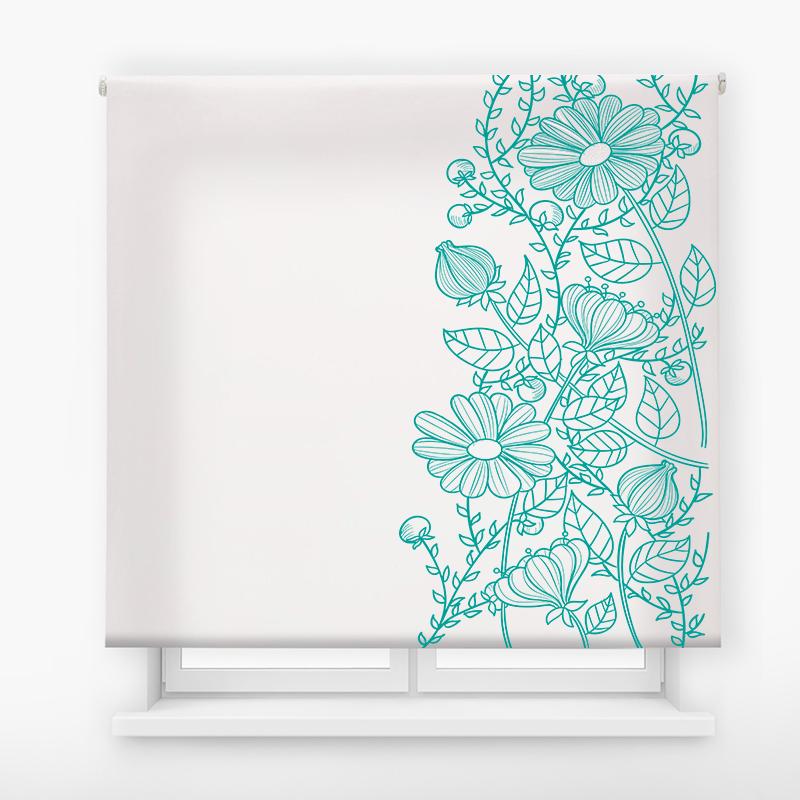 estor enrollable digital cualquier ambiente /floral 80
