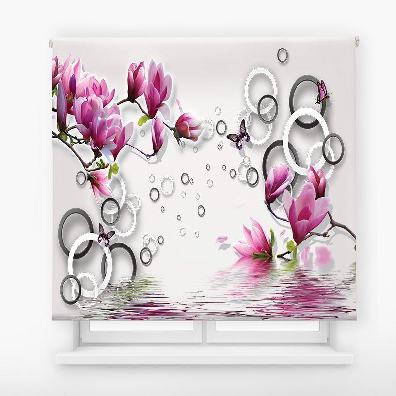 estor enrollable digital cualquier ambiente /floral 81