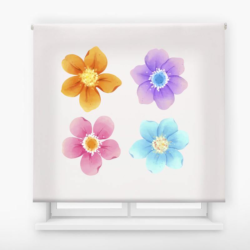 estor enrolalble digital cualquier ambiente /floral 1