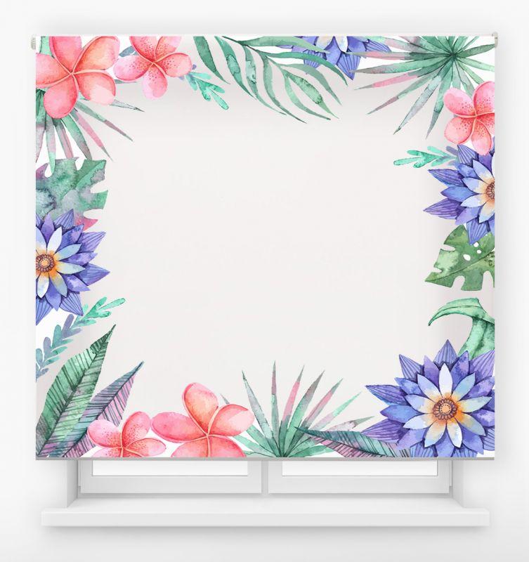 estor enrolalble digital cualquier ambiente /floral 30