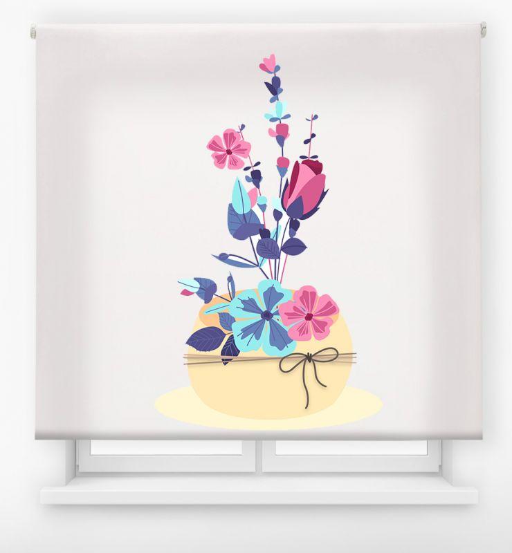 estor enrolalble digital cualquier ambiente /floral 36