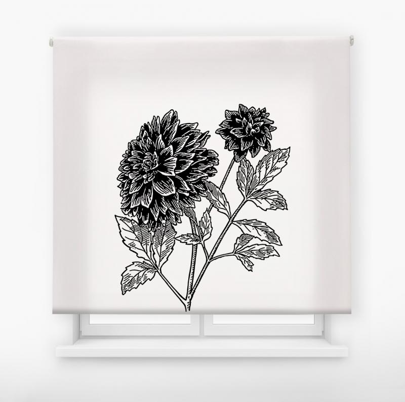 estor enrolalble digital cualquier ambiente /floral 43