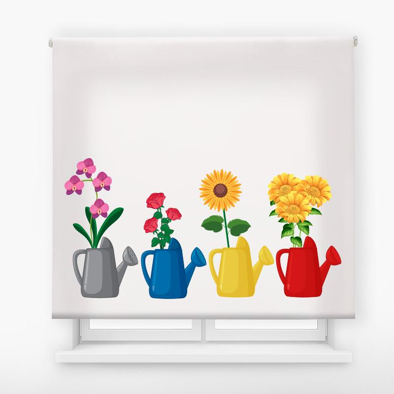 Estor impresión digital motivo floral 45