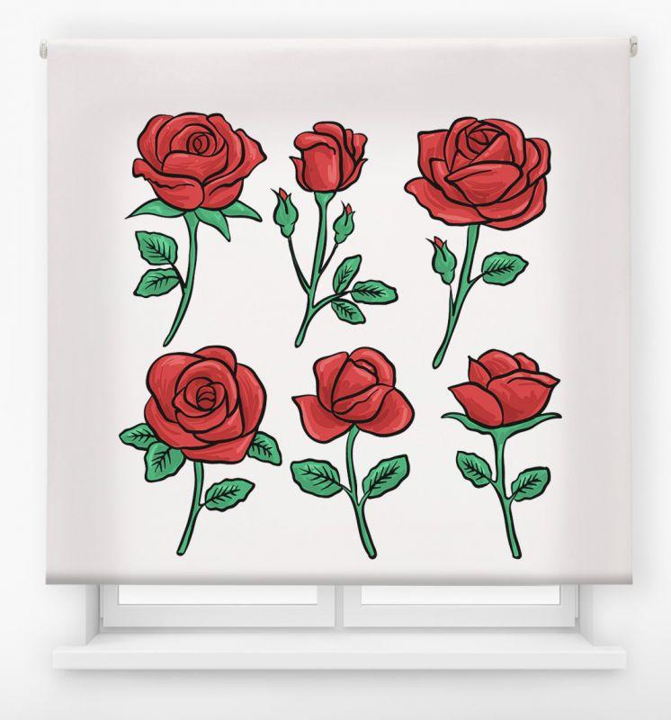 estor enrolalble digital cualquier ambiente /floral 71