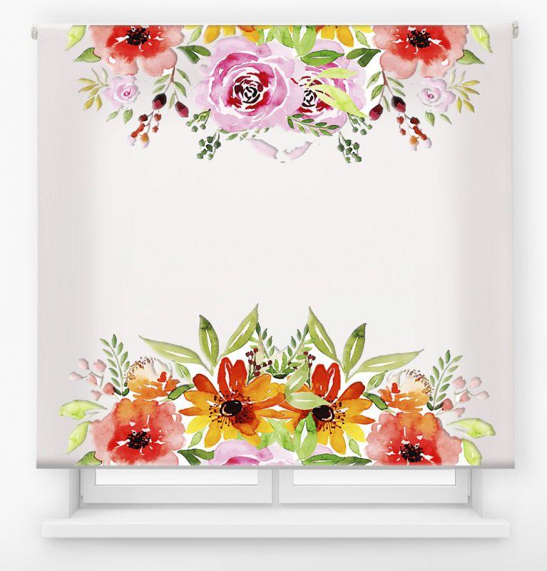 estor enrollable digital cualquier ambiente /floral 72