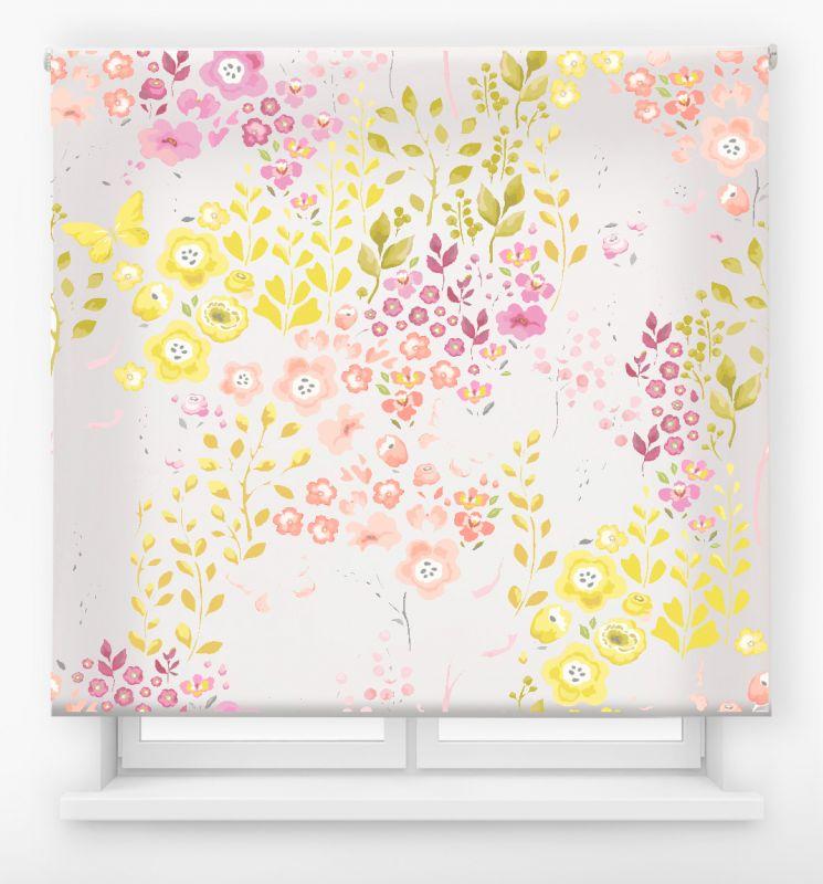 estor enrolalble digital cualquier ambiente /floral 74