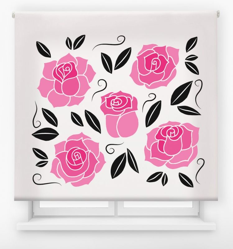 estor enrollable digital cualquier ambiente /floral 76