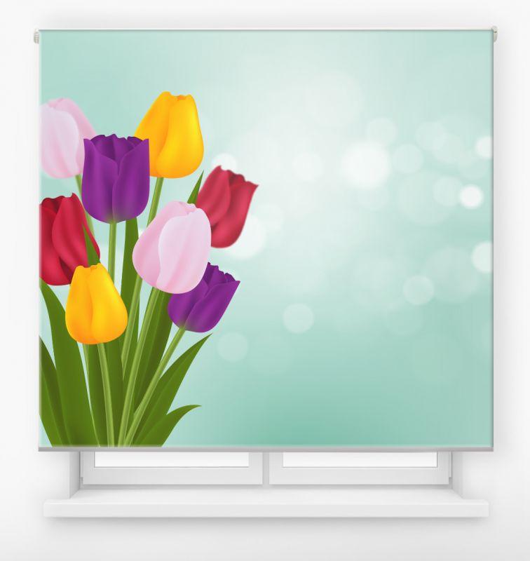 estor enrollable digital cualquier ambiente /floral 77