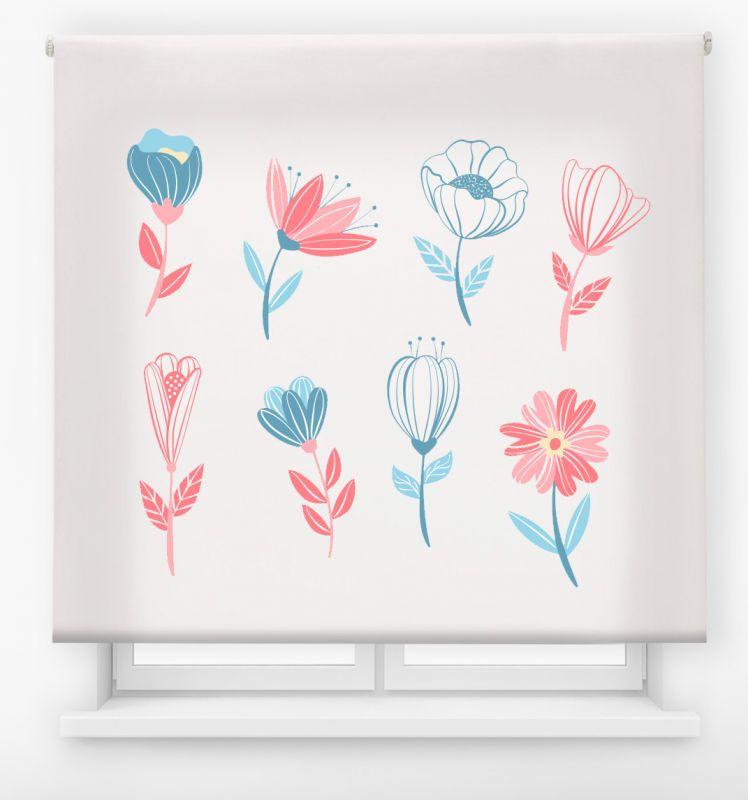 estor enrollable digital cualquier ambiente /floral 33