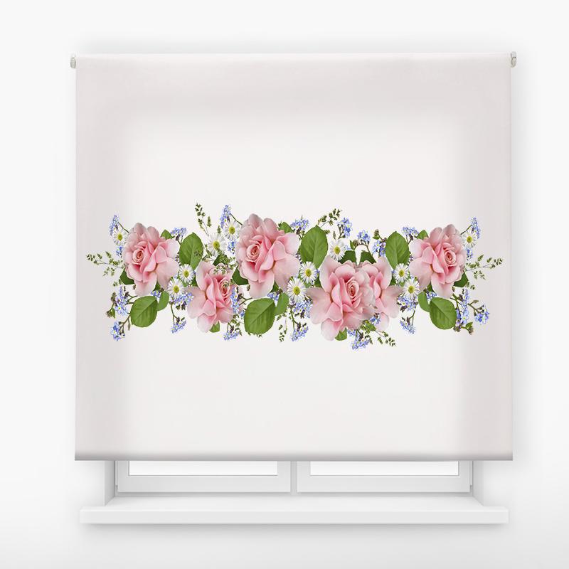 Estor de impresión digital acabado Floral 85