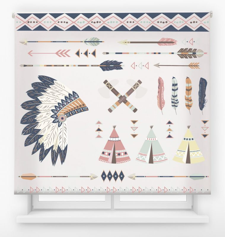 estor enrollable juvenil impresión digital diseño tribal nº 11