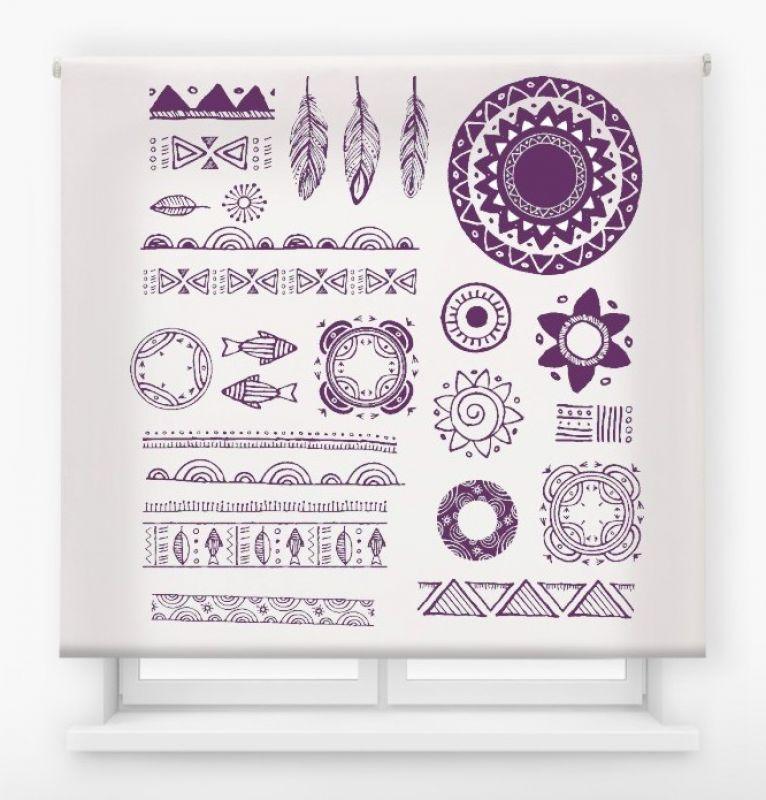 estor enrollable juvenil impresión digital diseño tribal nº 1