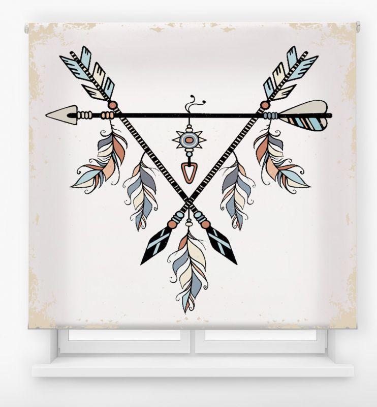 estor enrollable juvenil impresión digital diseño tribal nº 12