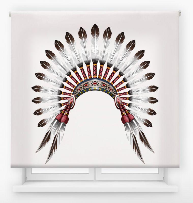 estor enrollable juvenil impresión digital diseño tribal nº 14