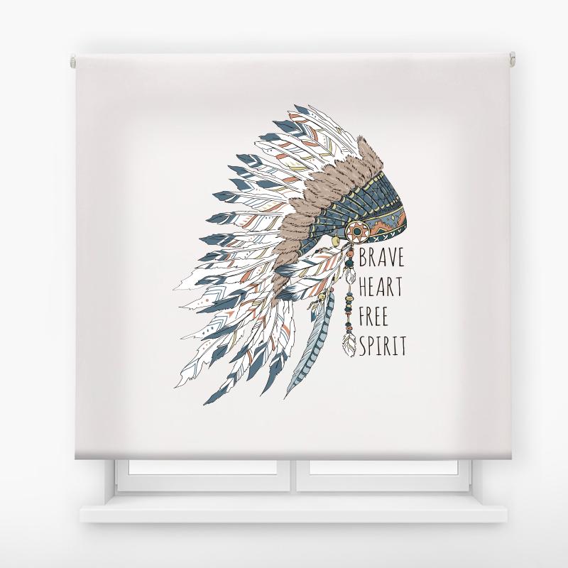 estor enrollable juvenil impresión digital diseño tribal nº 15