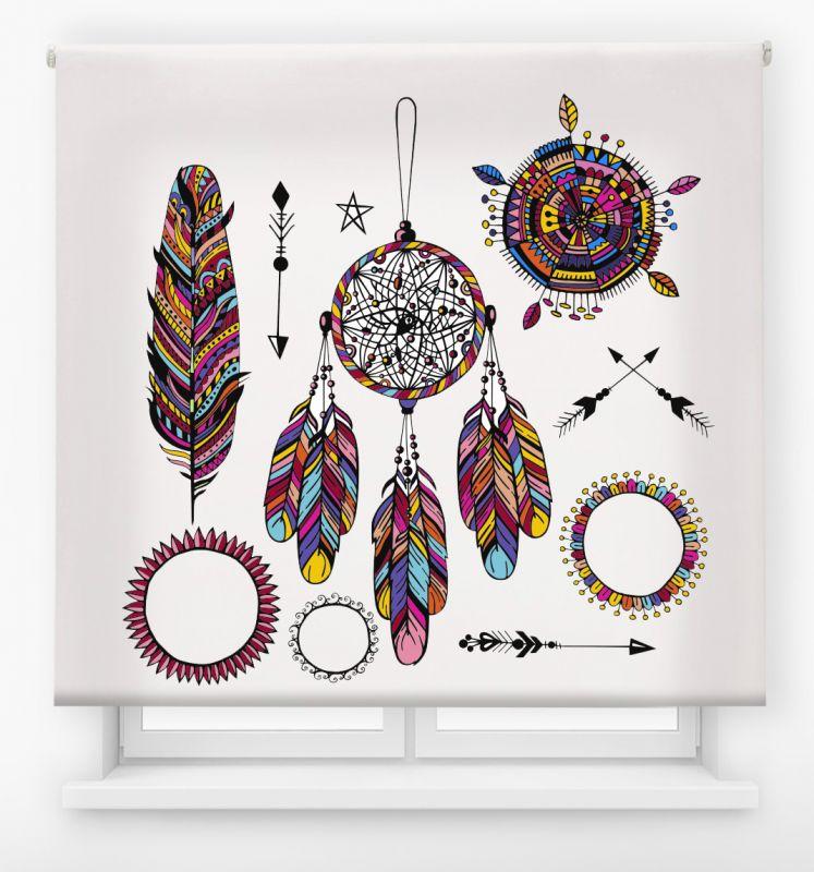 estor enrollable juvenil impresión digital diseño tribal nº 16