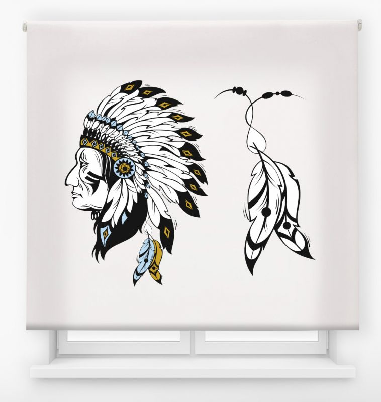 estor enrollable juvenil impresión digital diseño tribal nº 23