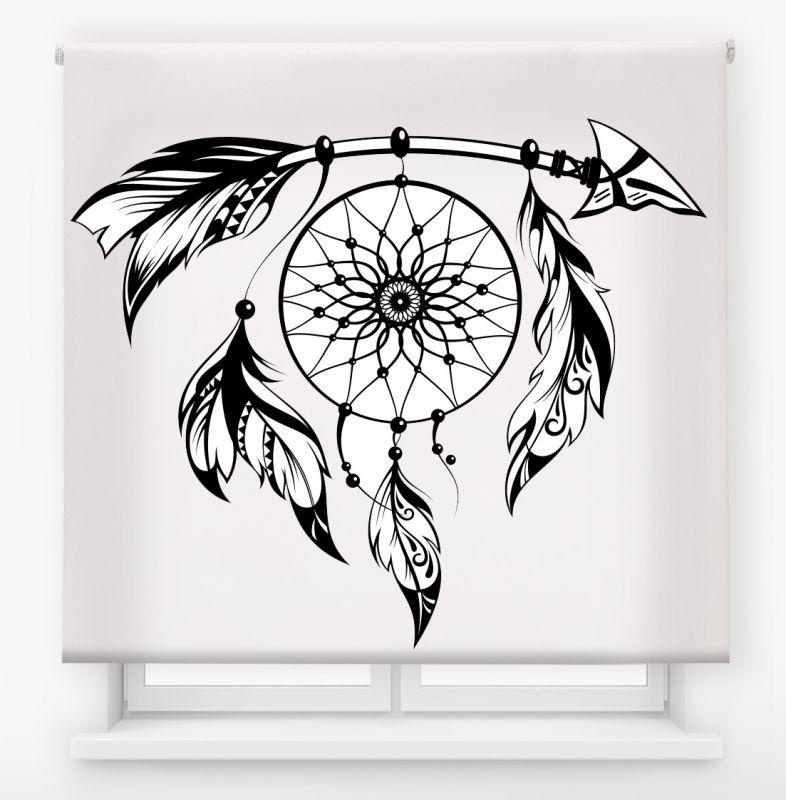 estor enrollable juvenil impresión digital diseño tribal nº 25