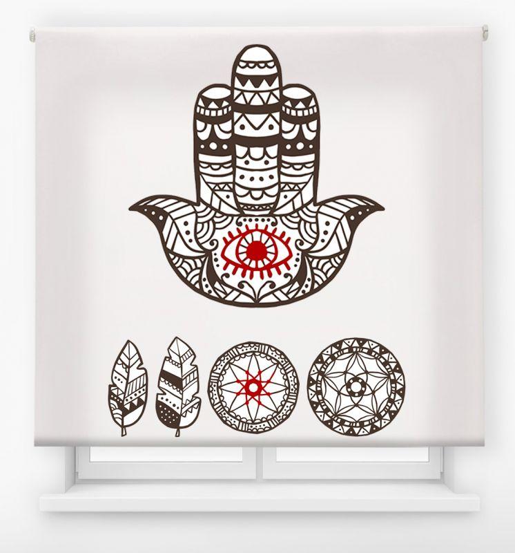 estor enrollable juvenil impresión digital diseño tribal nº 32