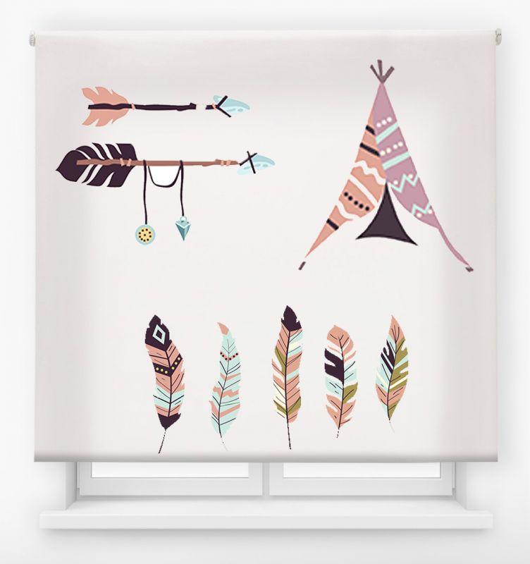 estor enrollable juvenil impresión digital diseño tribal nº 34