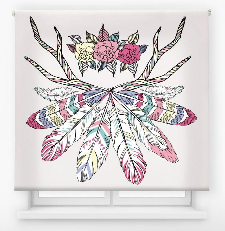 estor enrollable juvenil impresión digital diseño tribal nº 5