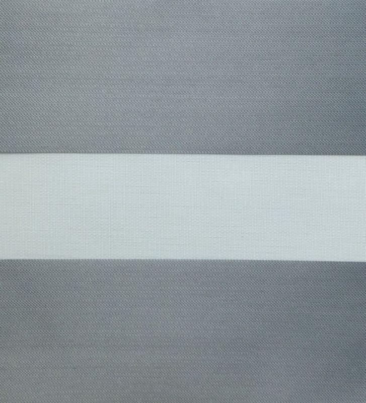 estor noche y día co embellecedor aluminizado gris medio