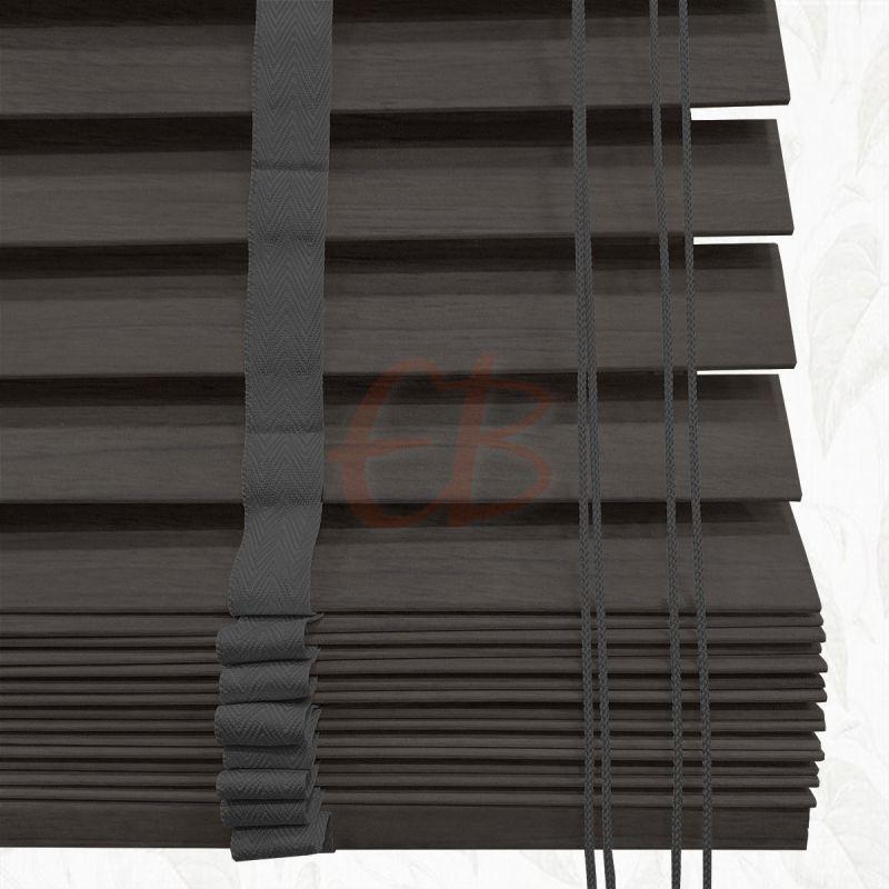 Veneciana de madera 50 mm gris carbón 6293 T