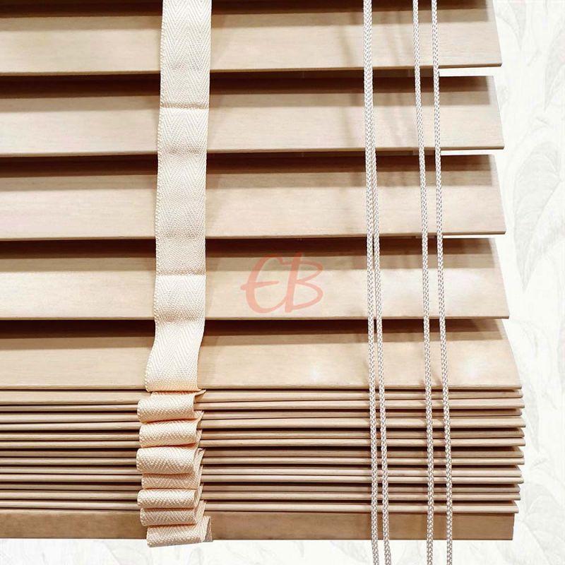 Veneciana de madera 50 mm Haya barniz mate