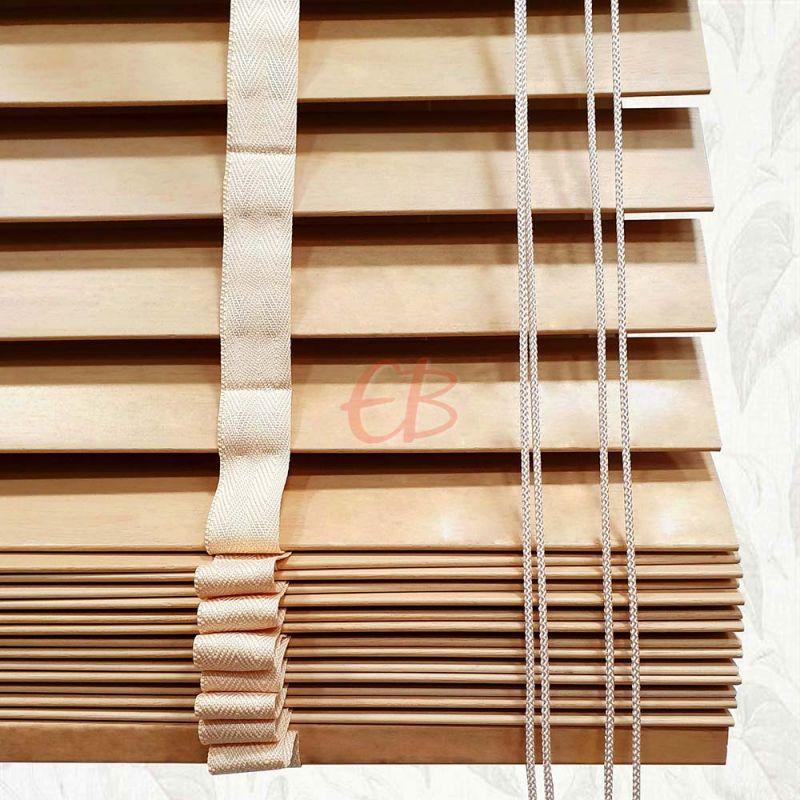 Veneciana de madera 50 mm Haya vaporizada barniz mate