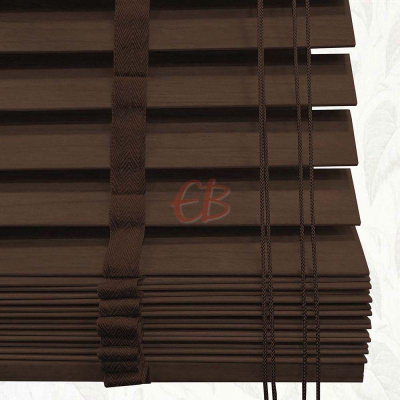 Veneciana de madera 50 mm Nogal barniz mate