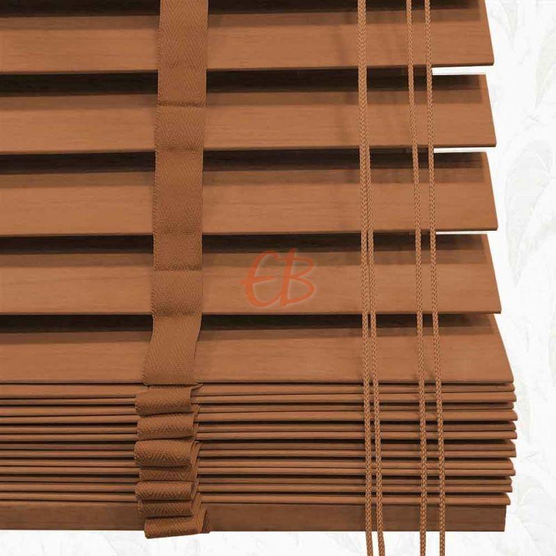Veneciana de madera 50 mm Roble barniz mate