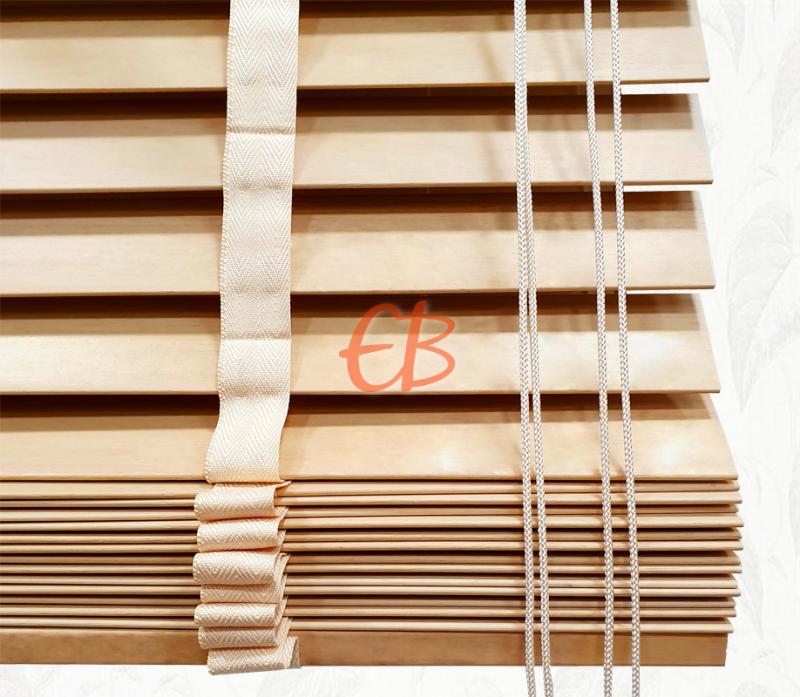 Veneciana de madera 35 mm Caoba barniz mate Haya vaporizada 6201