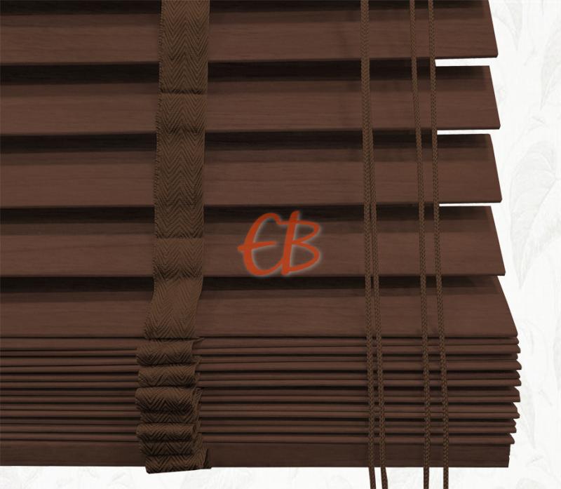 Veneciana de madera 35 mm Caoba barniz mate Nogal oscuro 6211