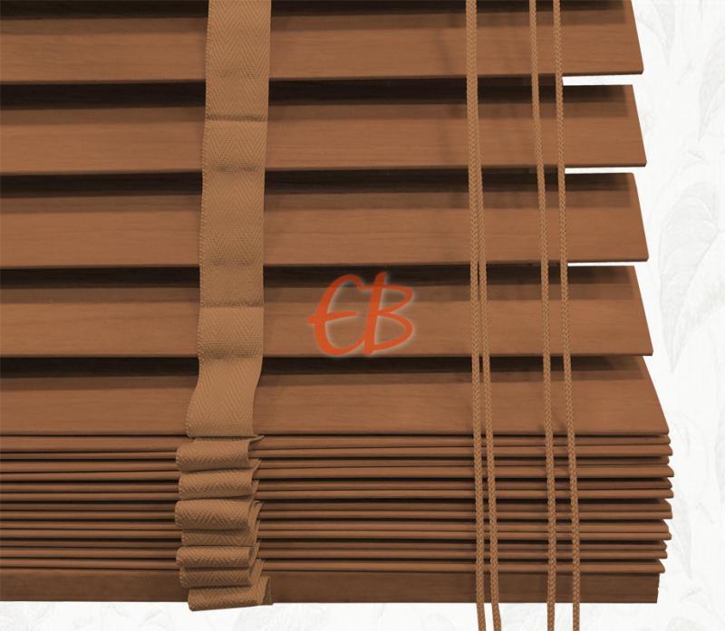 Veneciana de madera 35 mm Caoba barniz mate Roble oscuro 6222