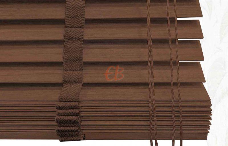 Veneciana de madera 25 mm Caoba barniz mate